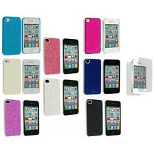 Bling Glitter Ultra Thin Hard Back Cover Case+3X LCD Protector for iPhone 4 4G