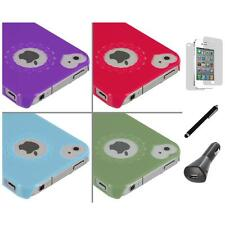 Heart Love Pattern Ultra Thin Hard Cover Case+LCD+Charger+Pen for iPhone 4G 4S