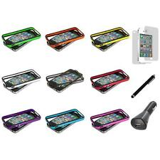 TPU Bumper Frame Cover Case Metal Buttons+LCD+Charger+Pen for iPhone 4 4G 4S
