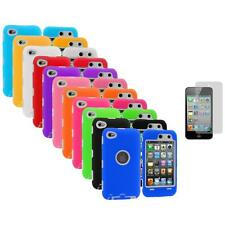 Deluxe Hybrid Case Cover+Protector+3X LCD Protector for iPod Touch 4th Gen 4G 4