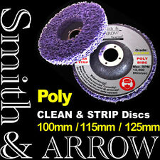 "4 x 125mm 5"" POLY STRIP DISC WHEEL PAINT RUST REMOVAL CLEAN ANGLE GRINDER METAL"