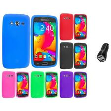 For Samsung Galaxy Avant G386 Silicone Rubber Case Cover 2.1A Charger