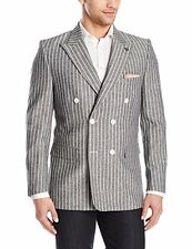 NEW Stacy Adams Tailored 5482-001 Mens Sixer Double Breasted Sport Coat GRAY