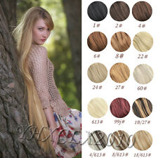 full set 100% Human Hair Clip In Extensions Remy Hair AAA Quality 7pcs set 18in