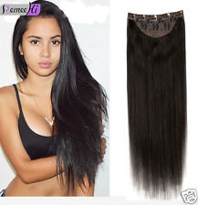 NEW One Piece 5Clips thick Full Head Clip ins on Human Hair Extension halo flip