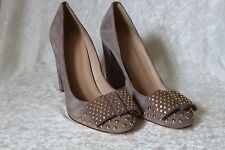 J CREW ETTA HEELS Suede Studded Pumps $298 Size 7, 9.5 08955 ITALY
