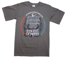 Lynyrd Skynyrd Support Southern Rock Music Men's Gray Cotton T-Shirt