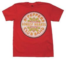 Beatles Sgt. Peppers Lonely Hearts Club Band Album Art Men's Red Cotton T-Shirt