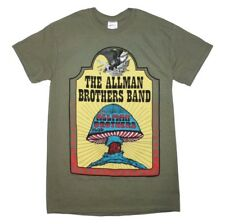 Allman Brothers Band Southern Blues Rock Music Men's Army Green Cotton T-Shirt