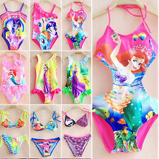 Girls Kids My Little Pony Swimsuit Swimwear Beachwear Swimming Costume 2-10 Year