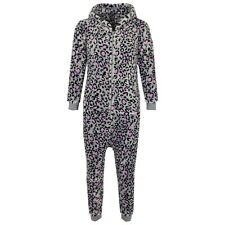 KIDS GIRLS BOYS EXTRA SOFT LEOPARD Onesie ALL IN ONE SLEEPSUIT SIZE 1-13 YEARS