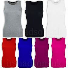 Girls Ribbed Vest Top 100% Cotton Summer T Shirt Age 5 6 7 8 9 10 11 12 13 Years