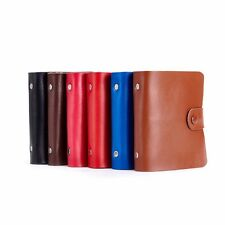 Women Double Snap Soft Leather Wallet Credit Name ID Card Money Holder Case #JP