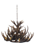 Chandelier Light in White or Natural 74cm Antler Cafe Lighting