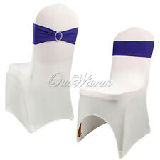 50 Stretch Chair Sash Bow With Buckle Slider Chair Cover Bands For Wedding Venue