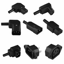 AC IEC C13 C14 Inline Chassis Socket Plug Rewireable Mains Power Connector 1/2/5