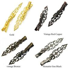 6Pcs Vintage Hair barrette Prong Alligator Filigree Hair Clips Teeth Hair Slides