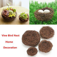 Handmade Vine Brown Bird Nest House Home Nature Craft Holiday Decoration G
