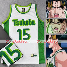 SLAM DUNK Cosplay Costume Tsukubu School Basketball Team #15 Nangou Jersey WHT
