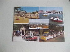 POOLE DORSET MULTIVIEW 1980,S OLD RARE UNPOSTED POSTCARD GOOD CONDITION