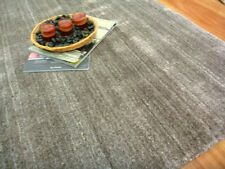 Natural Wool Viscose Rugs Marble Mocha
