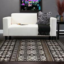 Intricate Tribe Designer Floor Area Rug and Runners Brown