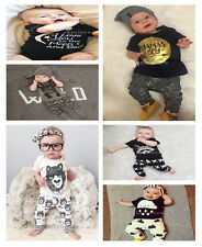 Baby Boy/Girl Kids Casual Clothes Set Short Sleeve Shirt,Tops,Pants Outfit(0-3Y)