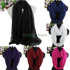 Women's Fashion Scarf Solid Colors Soft Long Scarf Wrap Shawl/Infinity Scarf New
