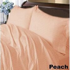 Peach Striped Latest Hotel Bed Item's 100% Cotton Twin / Full / Bed Sizes 1000TC