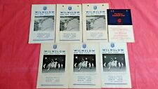 Wilmslow Rugby Programmes 1959 - 1971