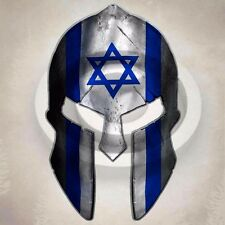 Israel Flag Spartan Helmet Sticker Israeli Star Decal