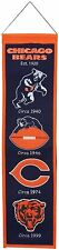 """Chicago Bears Embroidered Wool Heritage 32"""" Banner Pennant"""