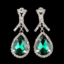 Retro Glass Crystal Rhinestone Drop Earring  Bohemia Waterdrop Earring Jewelry