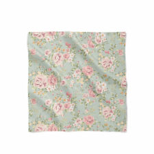 Pastel Floral Wallpaper Satin Style Scarf - Bandana in 3 sizes