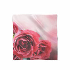 Red Roses Bokeh Satin Style Scarf - Bandana in 3 sizes