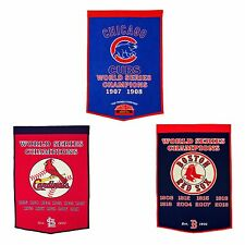 """Dynasty 24"""" x 36"""" Banner Embroidered Wool Pennant   * Pick Your Team *"""