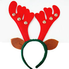Wholesale 6pcs Reindeer Antlers Headband with Bells Christmas Party Dress Games