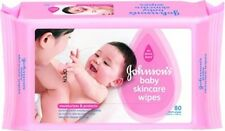 Johnson's Baby Skincare Wipes (80,20 Sheets) Free Shipping
