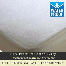 Soft Terry Towel Mattress Protector Waterproof Fitted Sheet Bed Cover All Sizes