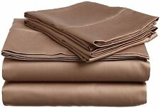 800 Thread Count Deluxe Quality Solid Taupe Sheet Set ( 4-PCs) Fit Super Pockets