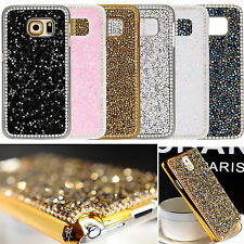 Luxury Bling Rhinestone Glitter Crystal Hard Back Case Cover For Samsung Phone