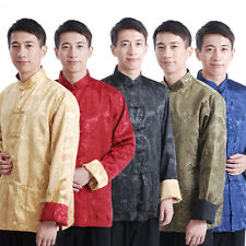 Hot Chinese Men's Dragon Kung Fu Party Jacket/Coat Embroidery Dragon Size:M--3XL