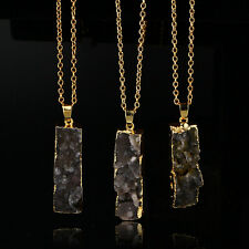 Crystal Gemstone Natural Quartz Pendant Point Necklace Healing Bead Chakra Stone