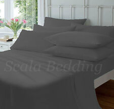 King Size 800TC Egyptian Cotton Luxurious Deep Pocket Solid 4PC & 6PC Sheet Set