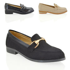 NEW WOMENS SLIP ON FLAT LOAFERS PUMPS SMART OFFICE WORK CASUAL LADIES SHOES SIZE