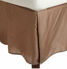 800TC Split Corner Bed Skirt With 2PC Pillow Case Taupe Solid 100% Cotton*