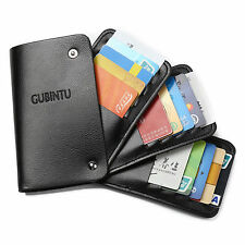 Business Rotate Leather Card Holder Wallet Pouch Credit Card 30 Card Places New
