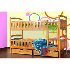 New Wooden Bunk Bed 'WO5' for chldren/boys&girls with drawers FREE MATTRESSES