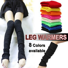LEG WARMERS Stocking Legging High Knitted Womens Neon Party Knit Ankle Socks