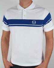 Sergio Tacchini Young Line Polo Shirt in White & Royal - pique 80 casual McEnroe